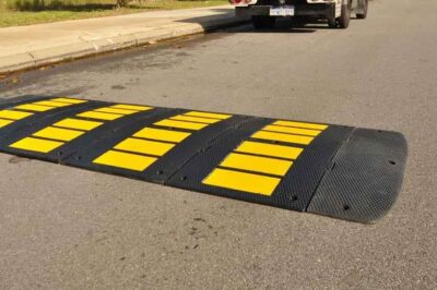 Large Modular Speed Hump Ends