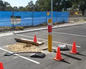 Disabled Parking Shared Area Bollard Installs
