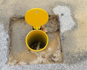 Removable Padlockable Bollard Installation