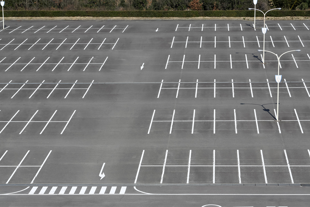 line markings on a parking lot